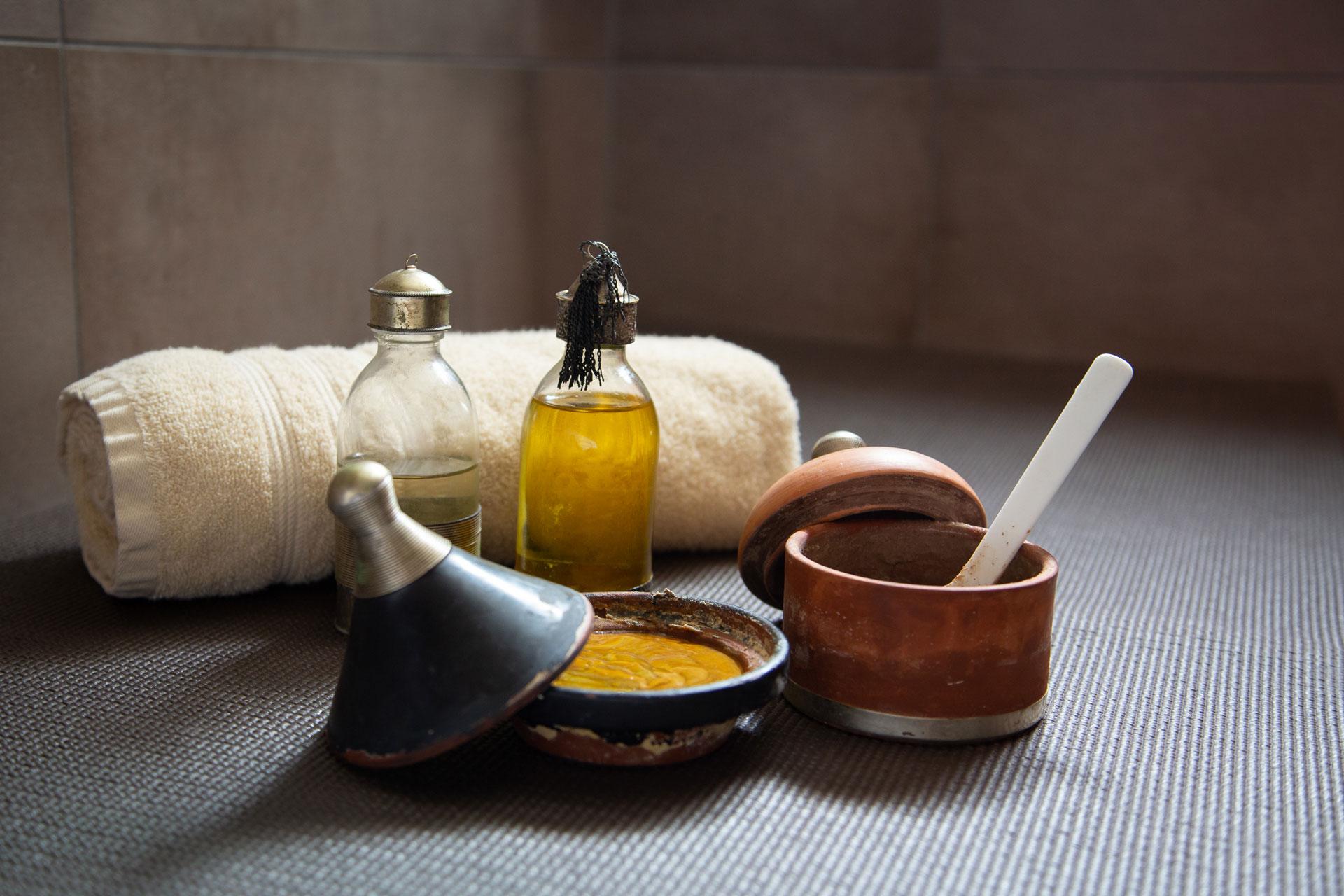 Produits de soins utilisé dans le hammam